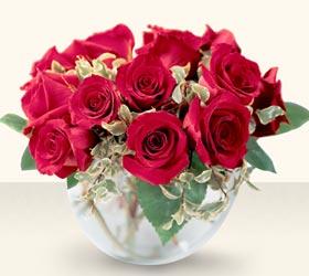 Çankırı internetten çiçek satışı  mika yada cam içerisinde 10 gül - sevenler için ideal seçim -