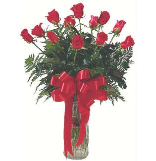 12 adet gül cam içerisinde  Çankırı çiçek , çiçekçi , çiçekçilik