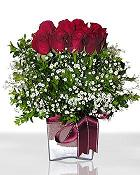 Çankırı kaliteli taze ve ucuz çiçekler  11 adet gül mika yada cam - anneler günü seçimi -