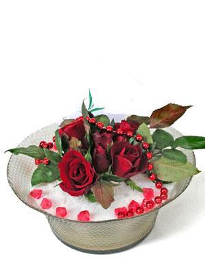 Çankırı çiçek gönderme  EN ÇOK Sevenlere 7 adet kirmizi gül mika yada cam tanzim