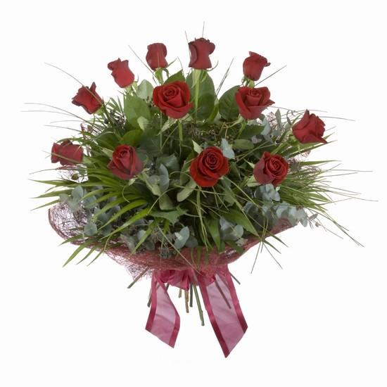 Etkileyici buket 11 adet kirmizi gül buketi  Çankırı İnternetten çiçek siparişi