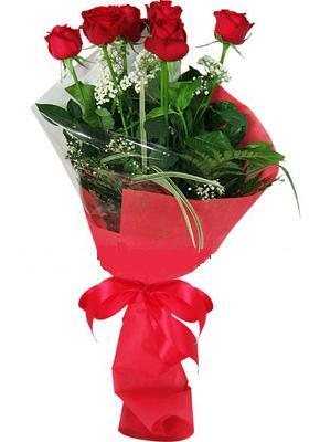 7 adet kirmizi gül buketi  Çankırı uluslararası çiçek gönderme