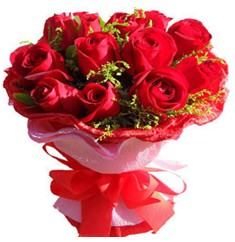 9 adet kirmizi güllerden kipkirmizi buket  Çankırı çiçek gönderme sitemiz güvenlidir