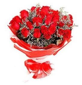 Çankırı internetten çiçek siparişi  12 adet kırmızı güllerden görsel buket