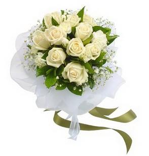 Çankırı cicekciler , cicek siparisi  11 adet benbeyaz güllerden buket