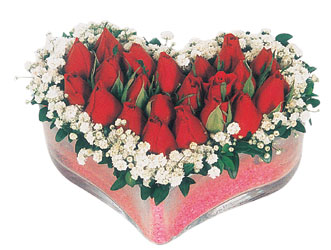Çankırı çiçek servisi , çiçekçi adresleri  mika kalpte kirmizi güller 9