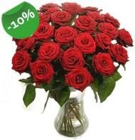 Vazo içerisinde 25 adet kırmızı gül  Çankırı çiçek satışı
