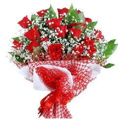 11 kırmızı gülden buket  Çankırı hediye çiçek yolla