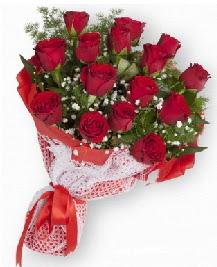 11 kırmızı gülden buket  Çankırı online çiçek gönderme sipariş