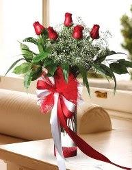Camda 5 kırmızı gül tanzimi  Çankırı çiçek servisi , çiçekçi adresleri