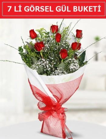 7 adet kırmızı gül buketi Aşk budur  Çankırı çiçek mağazası , çiçekçi adresleri
