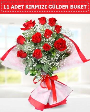 11 Adet Kırmızı Gül Buketi  Çankırı çiçek yolla
