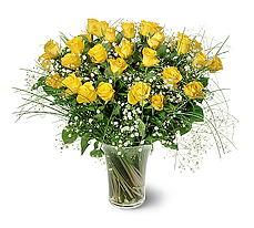Çankırı çiçek yolla , çiçek gönder , çiçekçi   15 adet sarigül mika yada cam vazoda