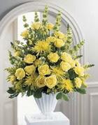 Çankırı çiçek yolla , çiçek gönder , çiçekçi   sari güllerden sebboy tanzim çiçek siparisi