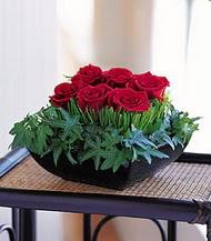 Çankırı çiçek yolla , çiçek gönder , çiçekçi   10 adet kare mika yada cam vazoda gül tanzim