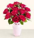 Çankırı yurtiçi ve yurtdışı çiçek siparişi  10 kirmizi gül cam yada mika vazo tanzim