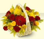 Çankırı hediye çiçek yolla  sepette mevsim çiçekleri