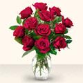 Çankırı hediye sevgilime hediye çiçek  10 adet gül cam yada mika vazo da