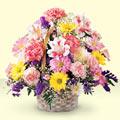Çankırı ucuz çiçek gönder  sepet içerisinde gül ve mevsim