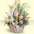 Çankırı hediye çiçek yolla  sepette pembe güller