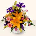 Çankırı hediye çiçek yolla  sepet içinde karisik çiçekler