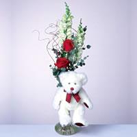 2 adet gül ve panda özel  Çankırı online çiçekçi , çiçek siparişi