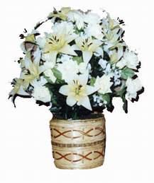 yapay karisik çiçek sepeti   Çankırı internetten çiçek siparişi