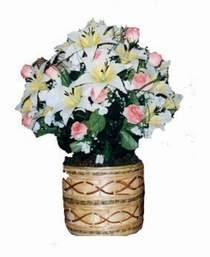 yapay karisik çiçek sepeti   Çankırı çiçekçiler