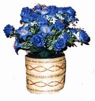 yapay mavi çiçek sepeti  Çankırı çiçek , çiçekçi , çiçekçilik