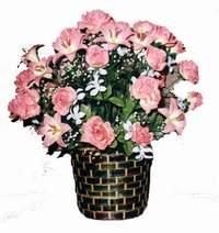 yapay karisik çiçek sepeti  Çankırı internetten çiçek satışı