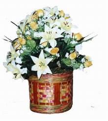yapay karisik çiçek sepeti   Çankırı çiçek , çiçekçi , çiçekçilik