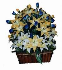 yapay karisik çiçek sepeti   Çankırı çiçek online çiçek siparişi