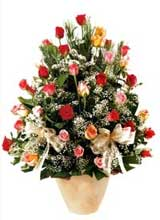 91 adet renkli gül aranjman   Çankırı anneler günü çiçek yolla