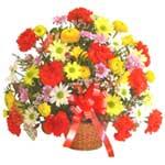 karisik renkli çiçek sepet   Çankırı anneler günü çiçek yolla