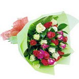 12 adet renkli gül buketi   Çankırı anneler günü çiçek yolla