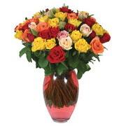 51 adet gül ve kaliteli vazo   Çankırı anneler günü çiçek yolla