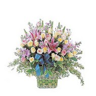 sepette kazablanka ve güller   Çankırı çiçek online çiçek siparişi