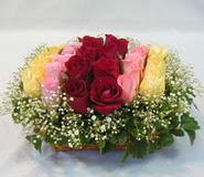 15 adet reprenkli gül sepeti   Çankırı hediye sevgilime hediye çiçek