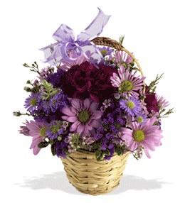 Çankırı ucuz çiçek gönder  sepet içerisinde krizantem çiçekleri