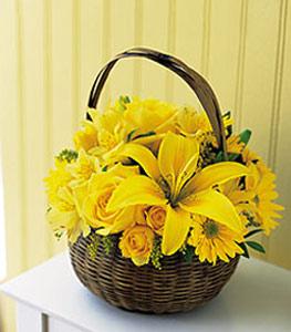sepet içerisinde sarinin sihri  Çankırı çiçek , çiçekçi , çiçekçilik