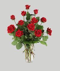Çankırı çiçek , çiçekçi , çiçekçilik  11 adet kirmizi gül vazo halinde