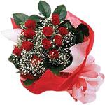 Çankırı İnternetten çiçek siparişi  KIRMIZI AMBALAJ BUKETINDE 12 ADET GÜL