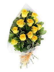 Çankırı online çiçek gönderme sipariş  12 li sari gül buketi.