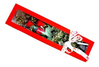 Çankırı yurtiçi ve yurtdışı çiçek siparişi  Kutuda 3 adet gül