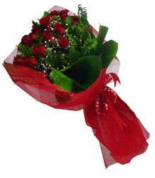 Çankırı anneler günü çiçek yolla  10 adet kirmizi gül demeti