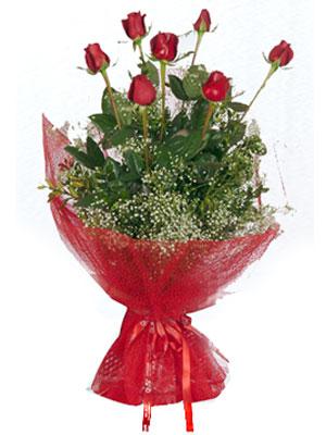 Çankırı çiçekçiler  7 adet gülden buket görsel sik sadelik