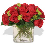 Çankırı çiçek servisi , çiçekçi adresleri  10 adet kirmizi gül ve cam yada mika vazo