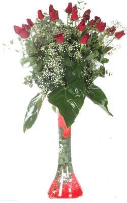Çankırı ucuz çiçek gönder  19 ADET GÜL VE FIL CAM AYAGI