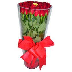 Çankırı internetten çiçek satışı  12 adet kirmizi gül cam yada mika vazo tanzim