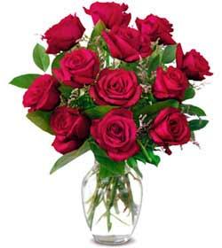 Çankırı çiçekçi telefonları  1 düzine kirmizi gül sevenlere özel vazo gülleri